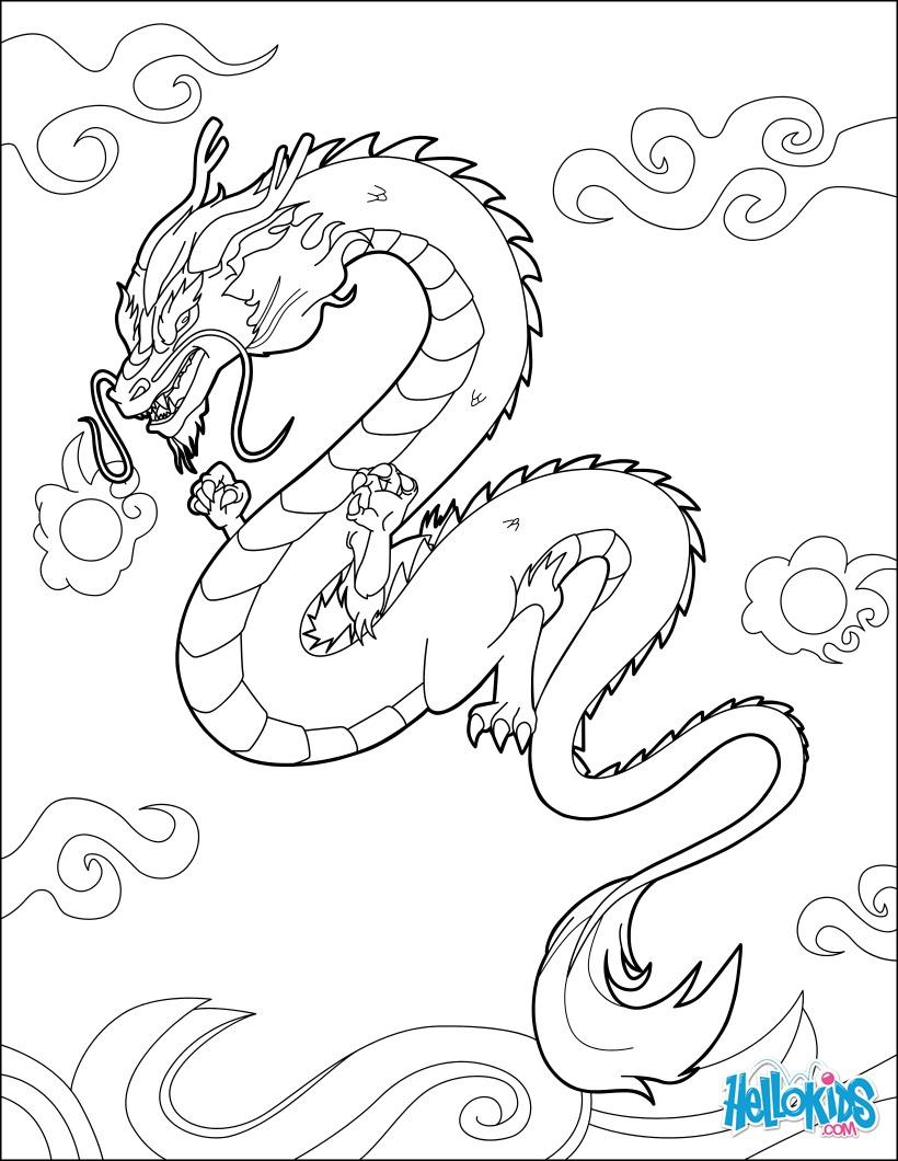 chinesische drachen zum ausmalen  malvorlagen