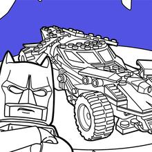 Lego Batman Batmobile Zum Ausmalen De Hellokids Com