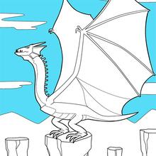 Riesigen geflügelten Drachen