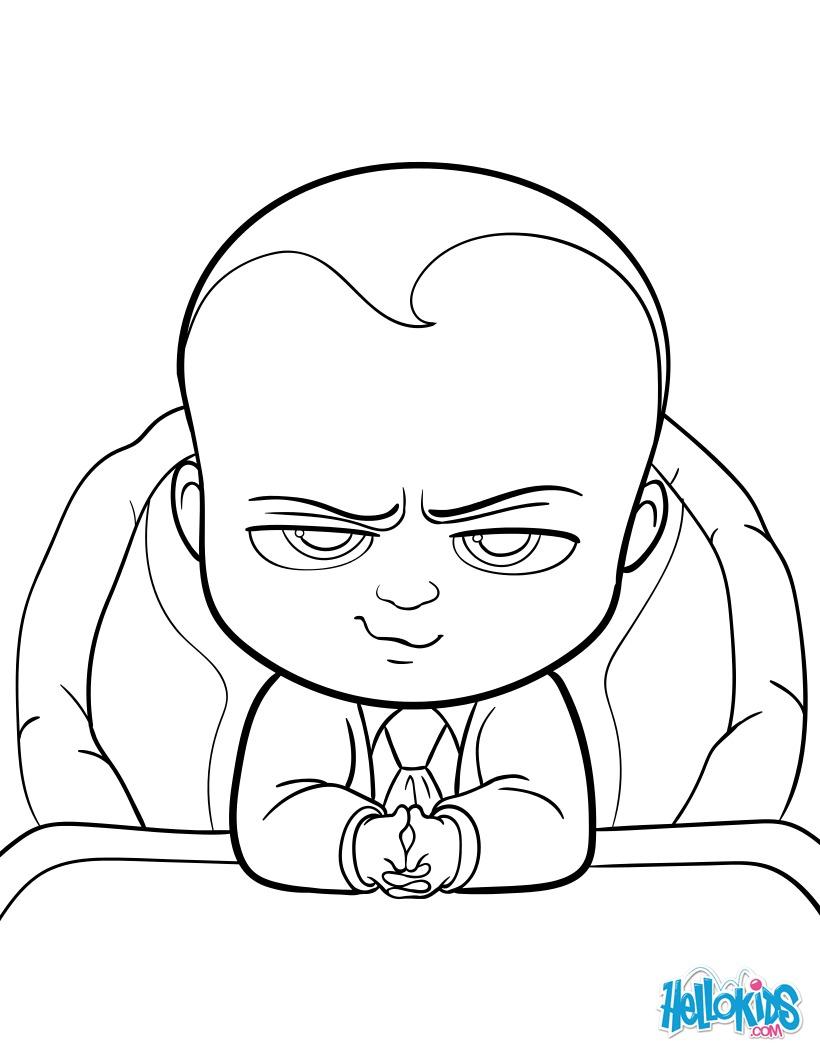 Boss Baby Zum Ausmalen Dehellokidscom