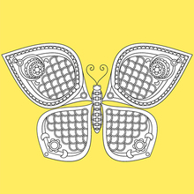 Schmetterling Mandala