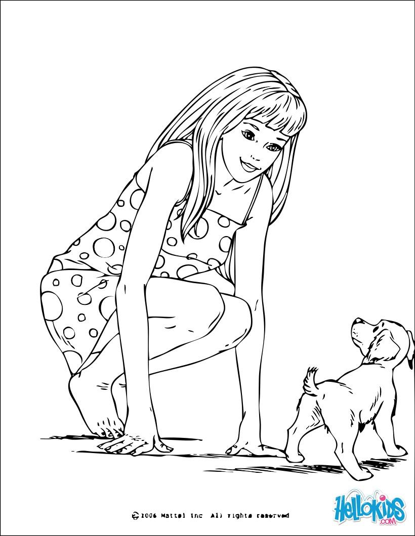 Barbie und ein kleiner Hund