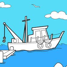 Boot an den Docks