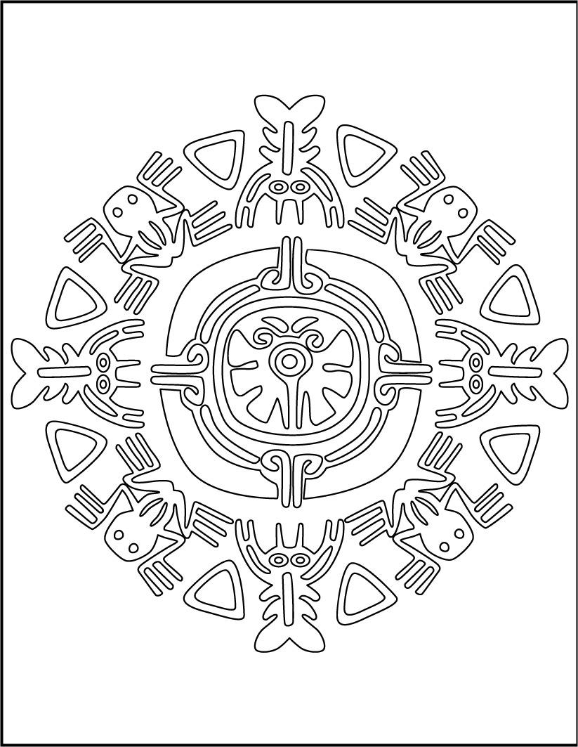 mandala von Aztekischen tieren