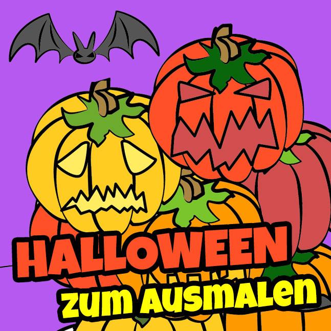 halloween zum ausmalen