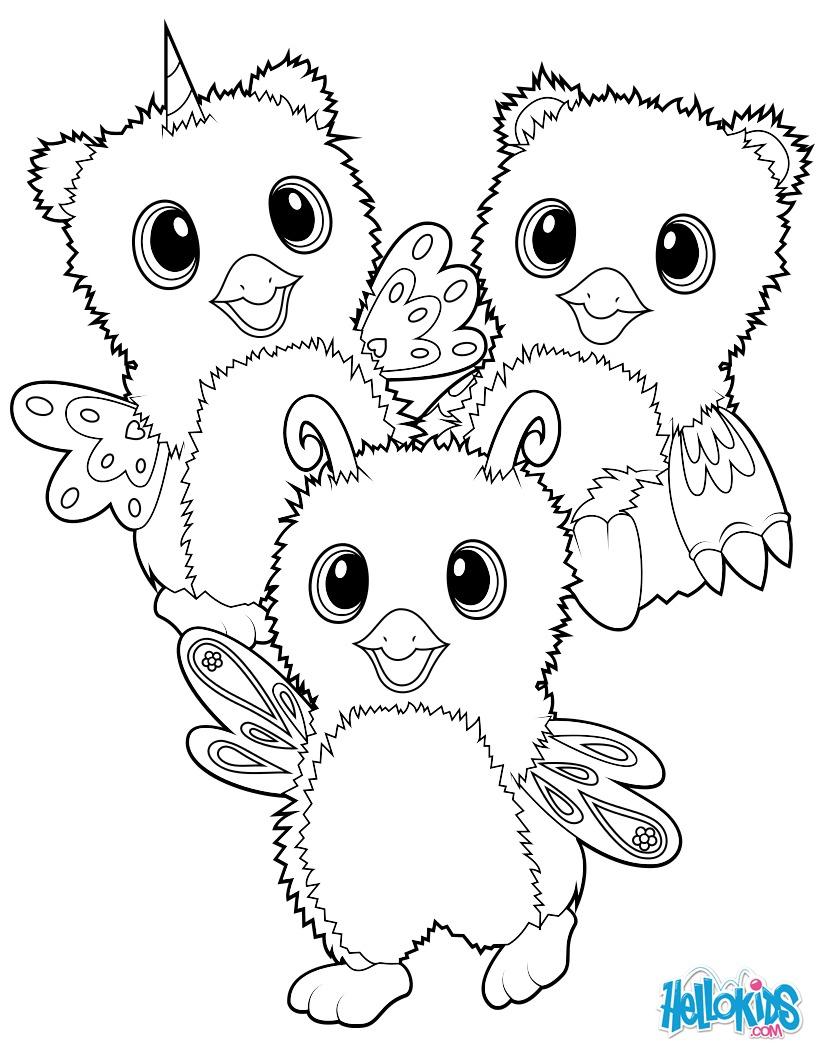 Hatchimals Burtle, Owlicorn and Bearakeet