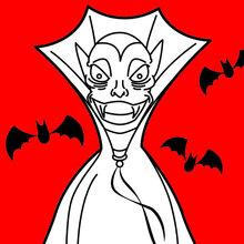 Dracula im schwarzen Umhang