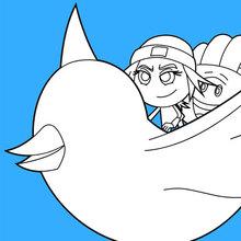 Jailbreak and Hi-5 Flug auf dem Twitter-Vogel