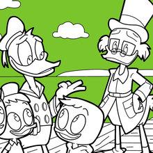 Donald Duck und Tick Trick und Track mit onkel Dagobert