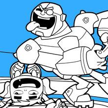 Teen Titans Beast Boy und Cyborg