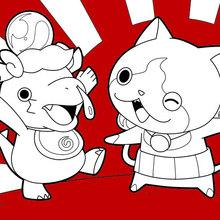 glückliche Yokai Watch Monster