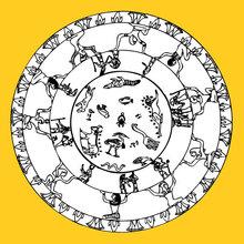 Ägyptische Zeichen Mandala