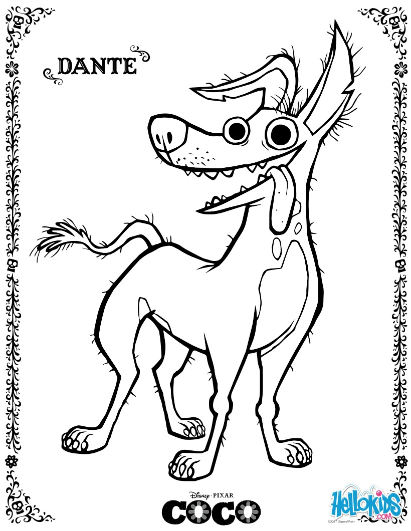 Disney Coco Dante zum ausmalen