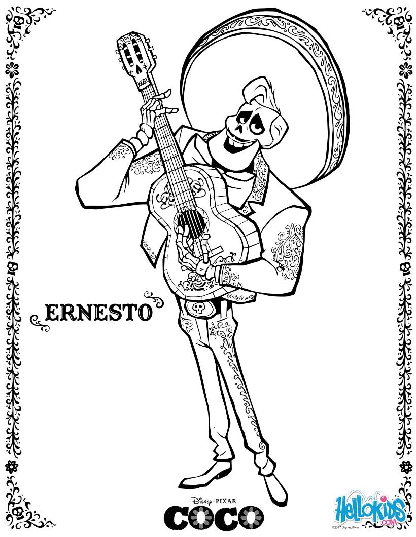 Disney Coco Ernesto zum ausmalen