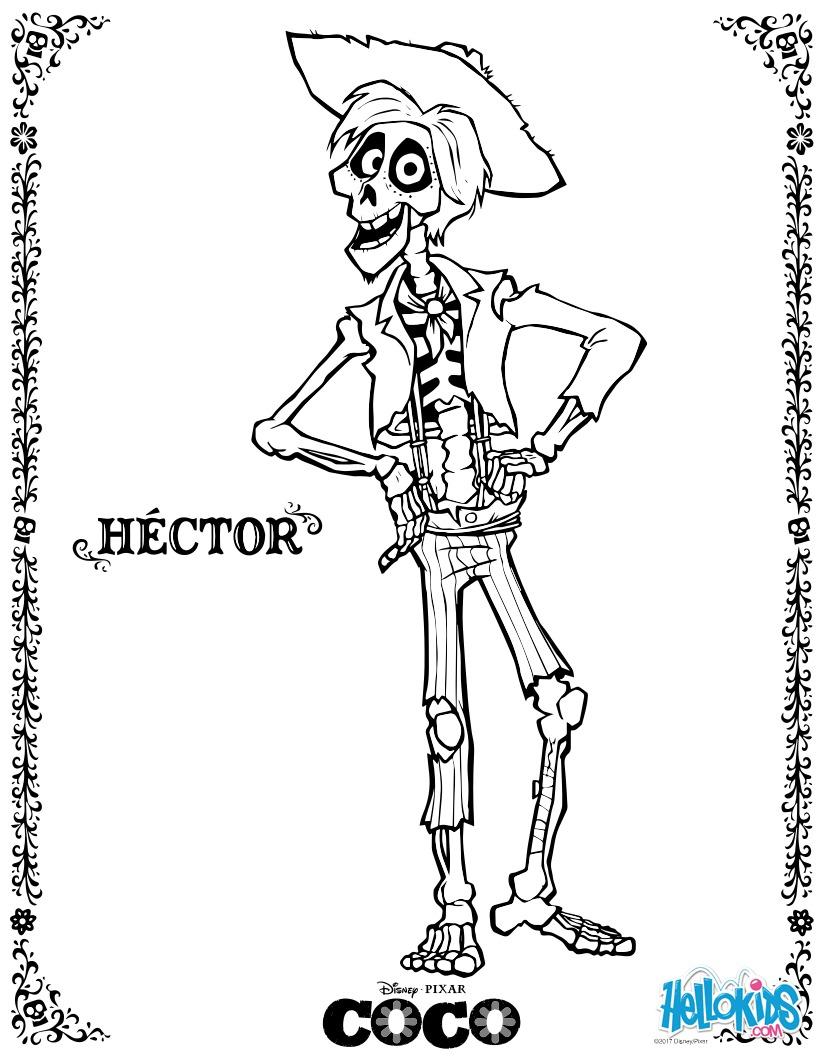 disney coco Héctor zum ausmalen