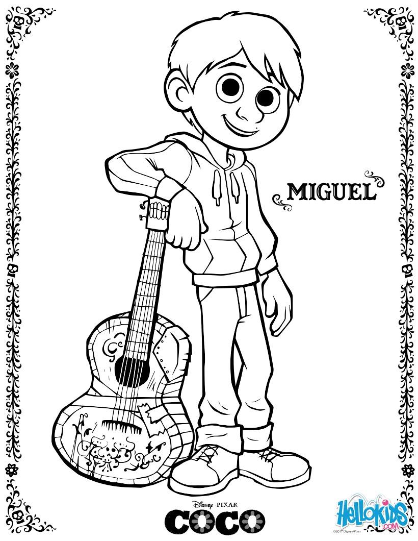 Disney Coco Miguel zum ausmalen