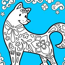 Der Hund feiert das chinesische neue Jahr