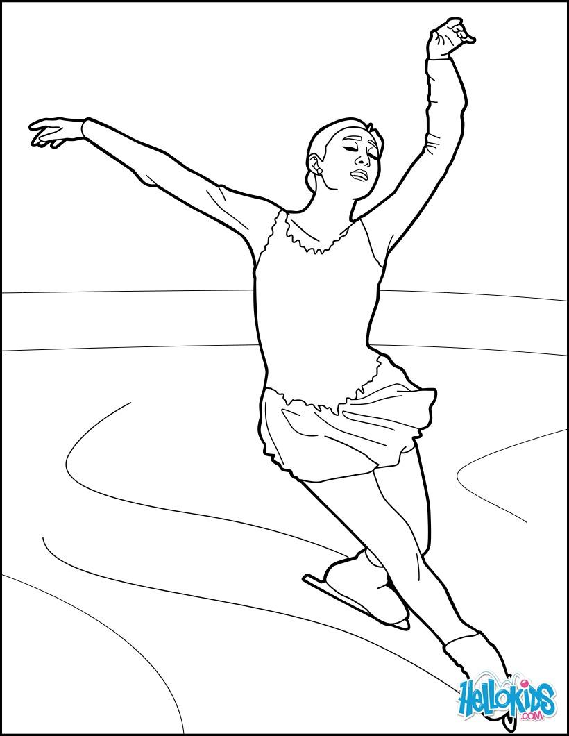 Eiskunstläufer Bei Den Olympischen Spielen Zum Ausmalen De