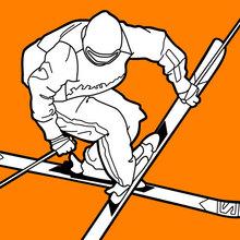 Freestyle-Skifahrer auf die Olympische Spielen
