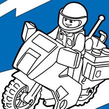 Polizeimotor von Lego