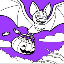 Fledermaus Liebt Halloween-Süßigkeiten