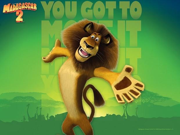 Madagascar 2 Poster: Alex der König
