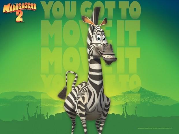 Madagascar 2 Poster: Marty das Zebra