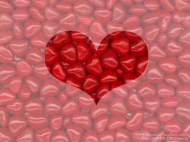 Valentinstag Süßigkeiten Poster