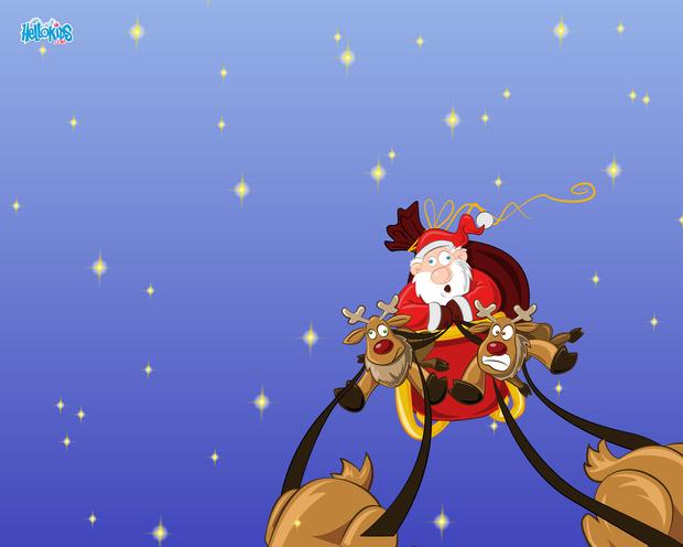 Schlitten des Weihnachtsmannes